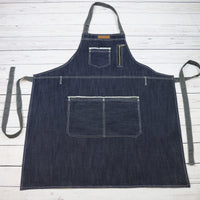 U331 - Blue Denim Bib Apron