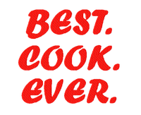 """Best Cook Ever""  Apron"