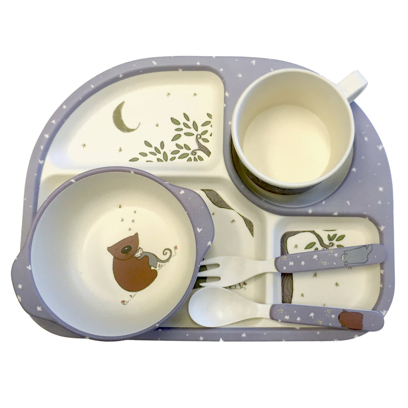 5 Piece Bamboo Dinner Set