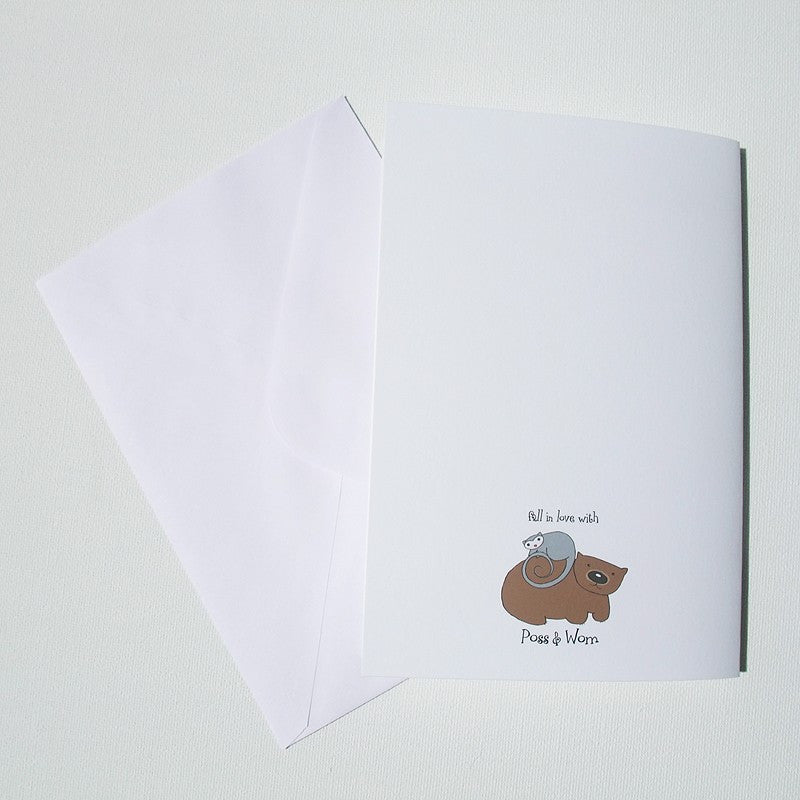 Congratulations card 'Hello Poss'