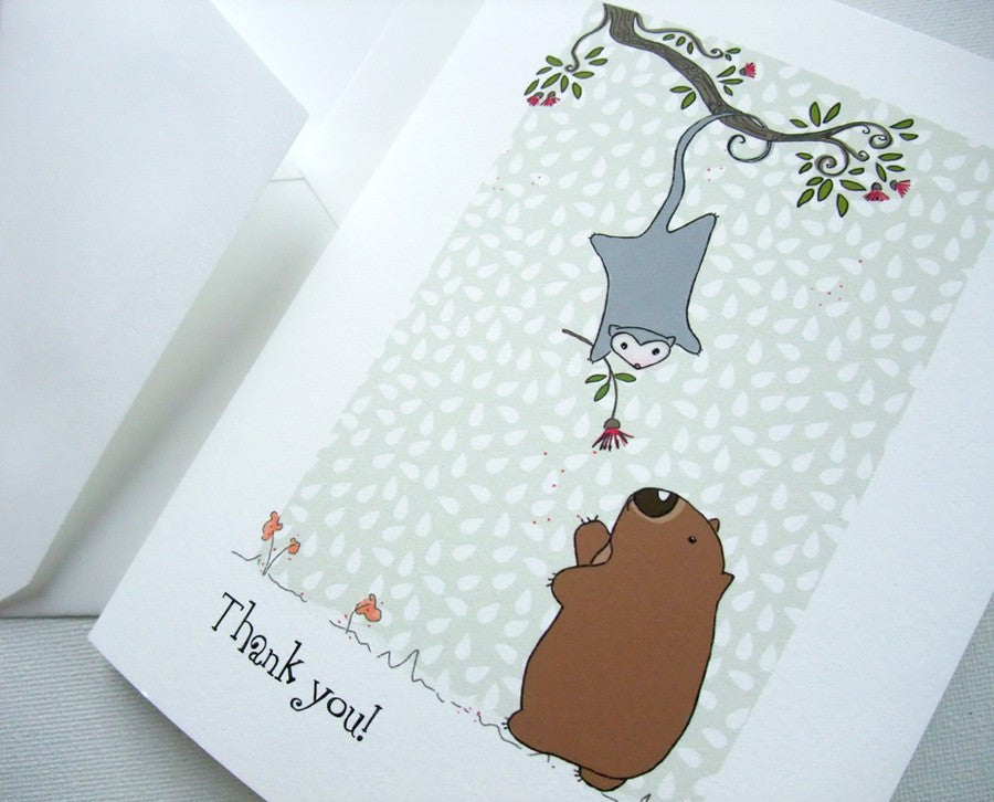 Thank you card 'Possie Blossum'