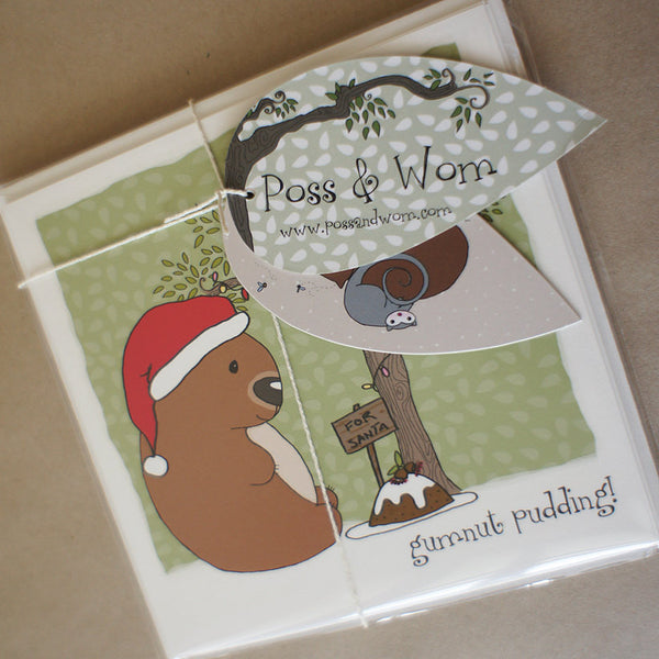 Christmas cards PACK OF 4 square
