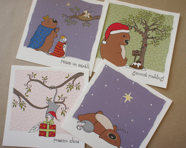 Christmas cards PACK OF 8 square