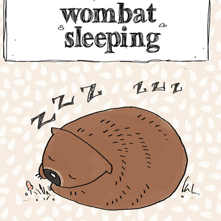 Wombat Sleeping