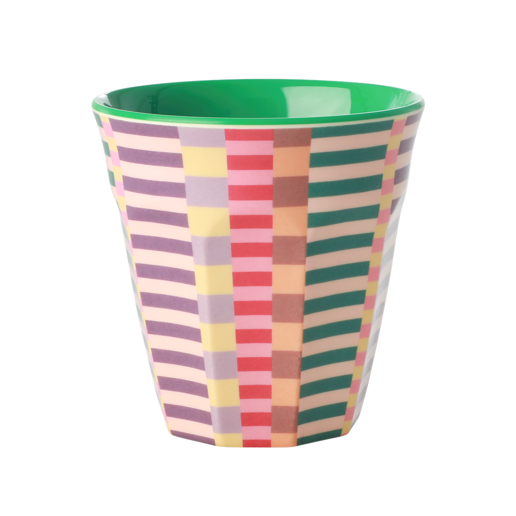 Medium Melamine Cup - Summer Stripes