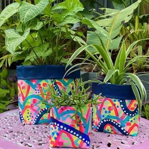Blue Confetti Planter