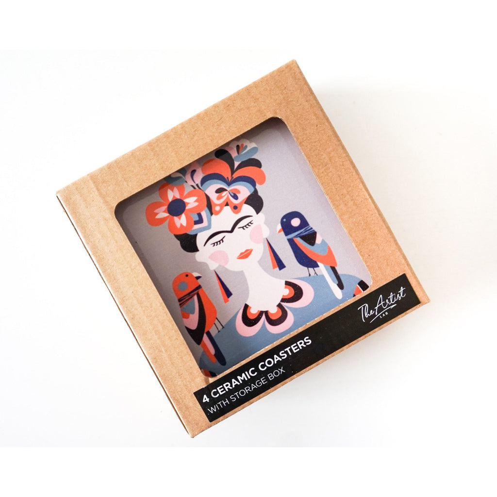 Frida Kahlo - Ceramic Coaster Set