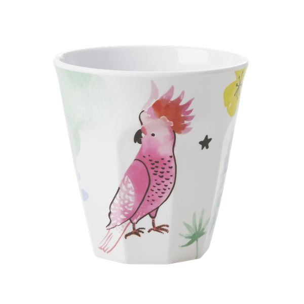 Medium Melamine Cup Cockatoo