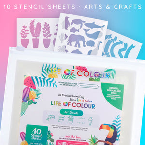 Card Making and Rock Painting Stencil Pack (10 sheets)