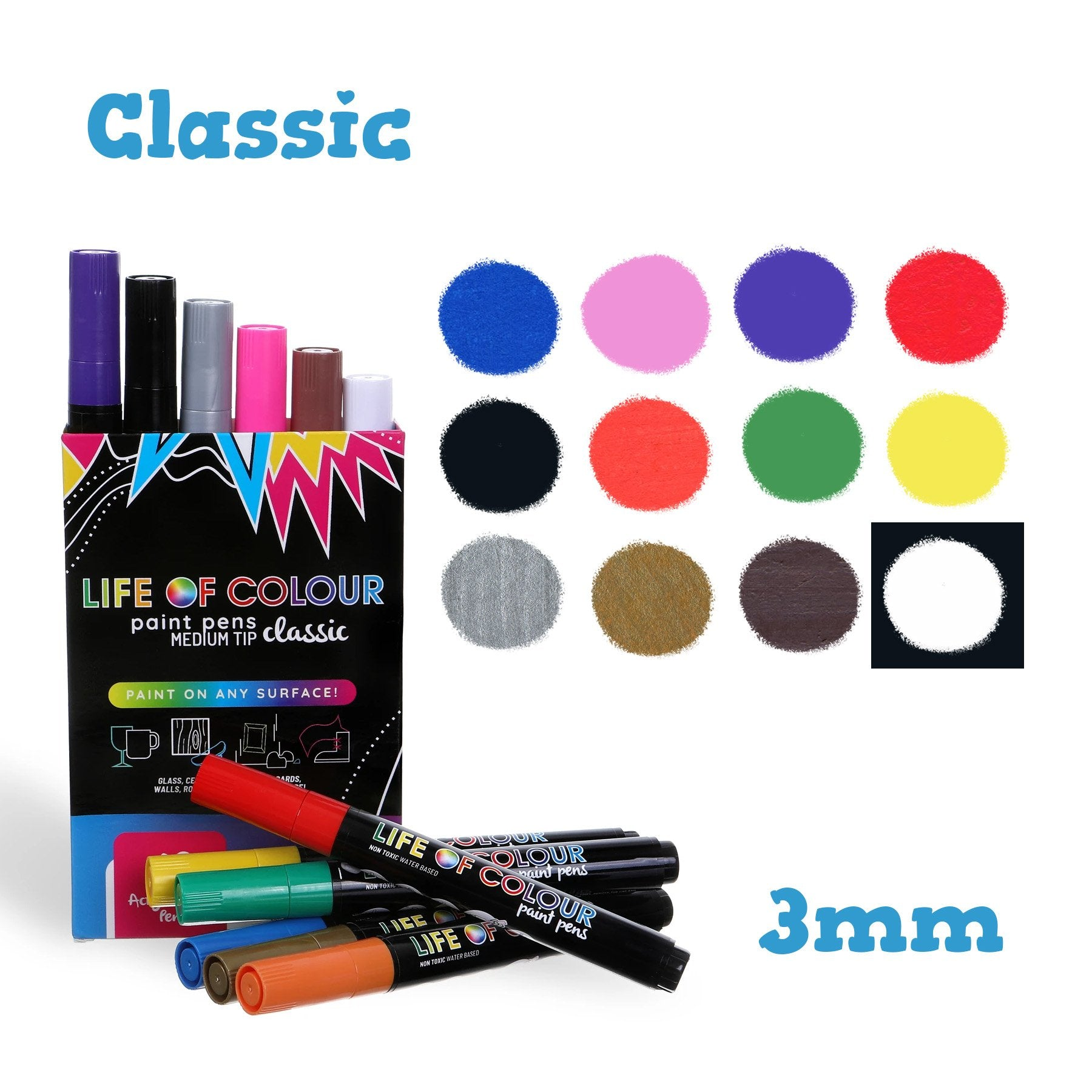 Classic Paint Pens - Medium Tip