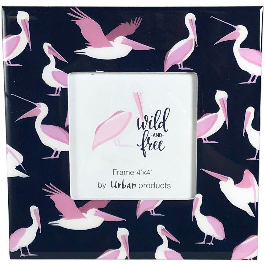 Wild Free Pelicans Frame - Pink