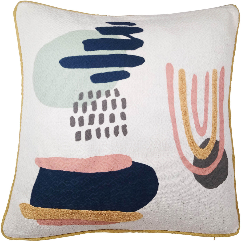 Sadie Cushion - Pink & Blue 45x45