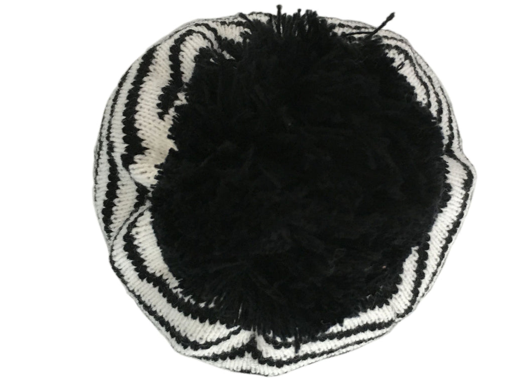 Get Ziggy With It Knitted Pom Pom Beanie - Blue