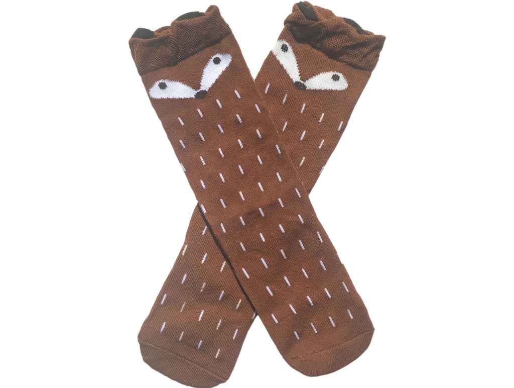 Fantastic Mr Fox kneehigh socks - brown