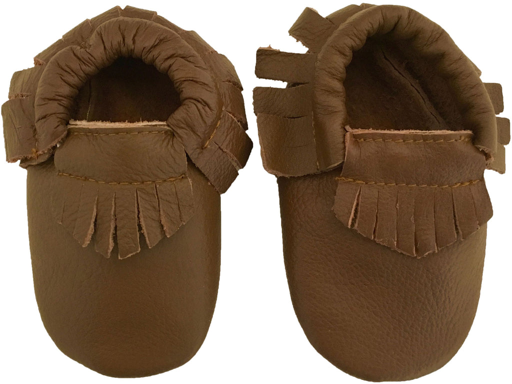 SALE Leather Moccs: Caramel Latte