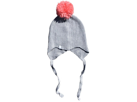 Get Ziggy With It Knitted Pom Pom Beanie - Mustard
