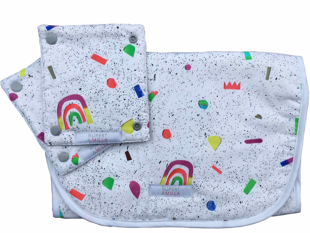 Somewhere Over the Rainbow Pram Liner