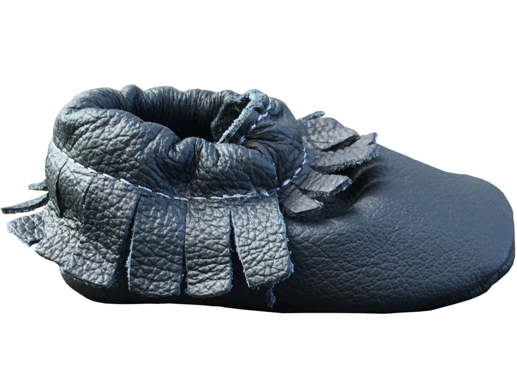 SALE Leather Moccs: In The Navy