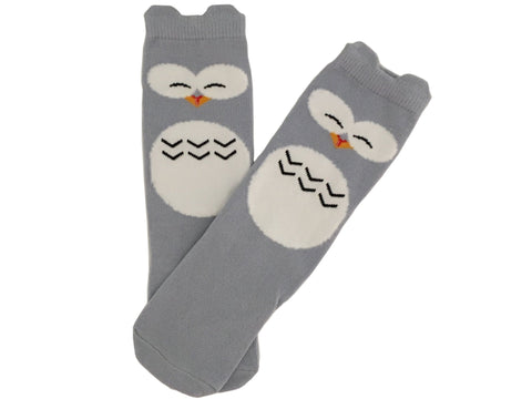 Owl Have These Ones kneehigh socks - dark grey