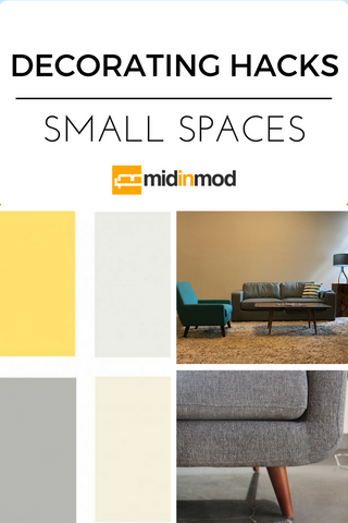 Decorating Hacks For Small Spaces + Houston Furniture Store – MidinMod