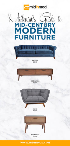 Modern Furniture Guide millennials' guide + mid-century modern furniture = midinmod