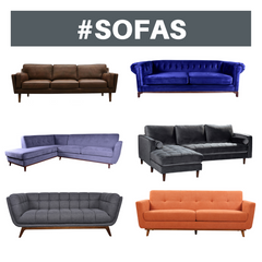 Sofas in Katy Furniture Store