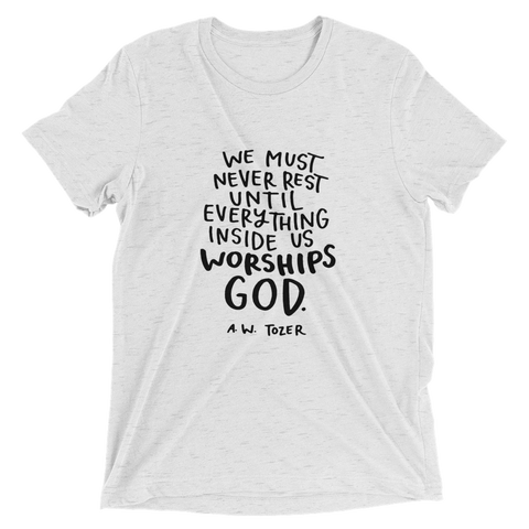 Tozer Quote Black Letters Short Sleeve T-shirt