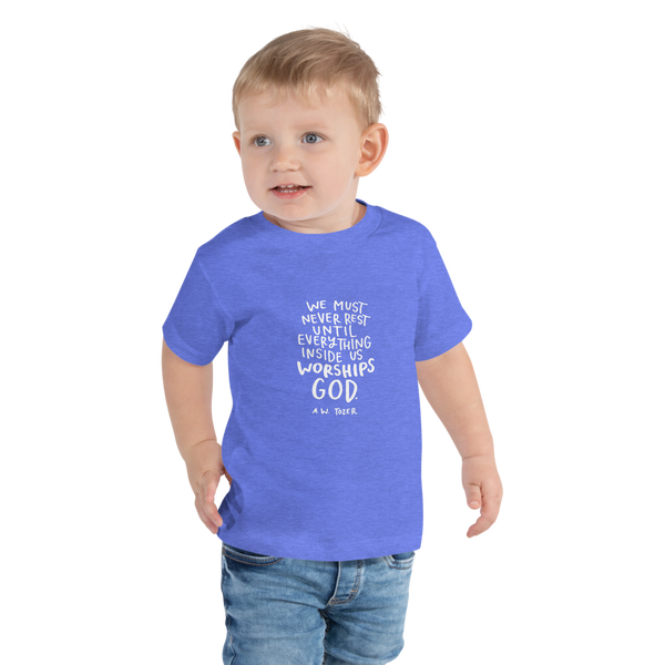 Toddler Tozer Worship Quote Tee