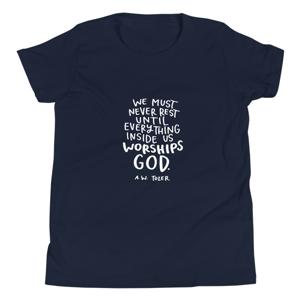 Youth Tozer Worship Quote Short Sleeve T-Shirt