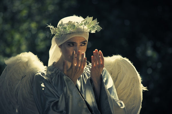 Silver Angel - Living Statue - Roving Character - Christchurch