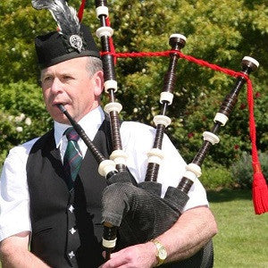 Stuart Wood - Bagpipe Player - Christchurch