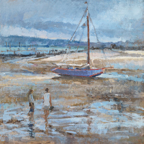 The Dutch Boat at Cap Ferret. - from the 'Oils' collection by Jane Corsellis