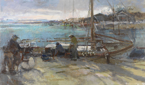 Loading Stores at Ile De Noirmoutier. - from the 'Oils' collection by Jane Corsellis