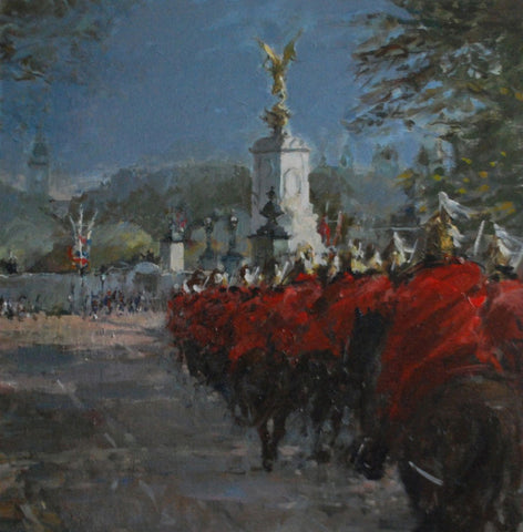Jane Corsellis Horseguards Riding to Buckingham Palace