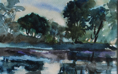 Jane Corsellis River Mists Strand on the Green watercolours painting