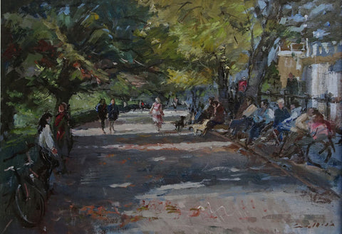 Jane Corsellis Autumn, Richmond Hill. Oil Painting