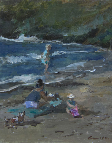 The Beach Picnic. - from the 'Oils' collection by Jane Corsellis