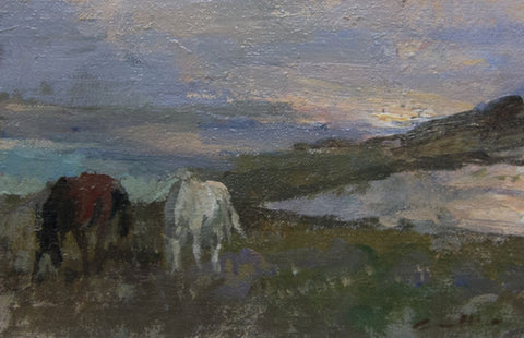 Wild Ponies on the Moors. - from the 'Oils' collection by Jane Corsellis