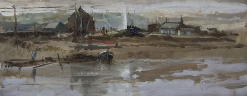 Spring Tides, Newport, Pembrokeshire. - from the 'Oils' collection by Jane Corsellis