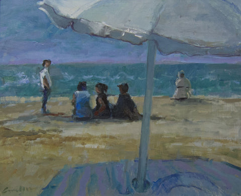 The Beach Café. - from the 'Oils' collection by Jane Corsellis  - 1