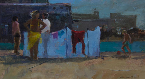 The Yellow Sarong. St Malo - from the 'Oils' collection by Jane Corsellis  - 1