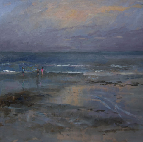 Evening on the Sands. - from the 'Oils' collection by Jane Corsellis  - 1