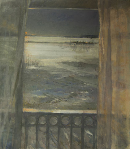 Sunrise on the Gironde. - from the 'Oils' collection by Jane Corsellis