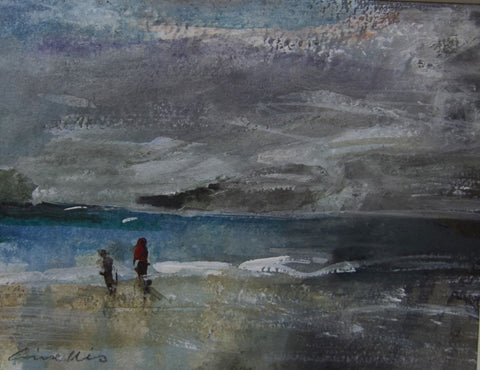 The Water's Edge, Daymer Bay. - from the 'Watercolours' collection by Jane Corsellis