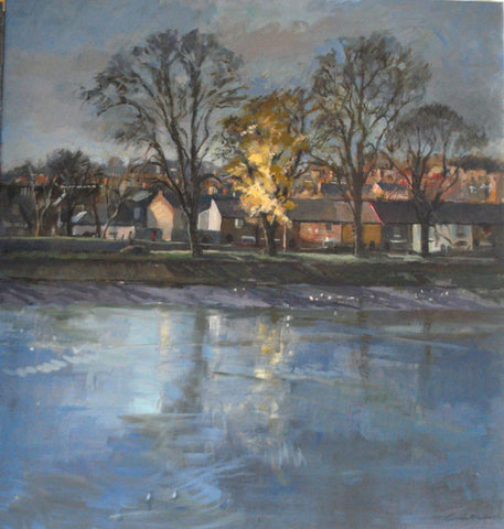 Last Leaves of Autumn, Strand on the Green from the 'Oils' collection by Jane Corsellis