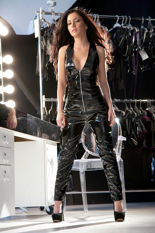 15%PU55%PVC30%Polyester Catsuit