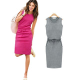 Cute Women's Dress Sleeveless Slim and casual