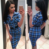 Plaid Vintage Dress