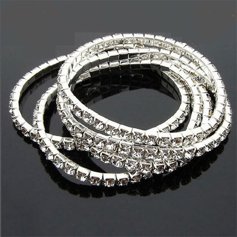Elegant Full Drill Rhinestone Stretch Bracelet