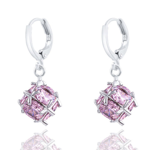 High-grade Crystal Ball Long Earrings